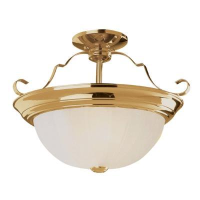 Trans Globe Lighting PL-13213 AW Two Light Semi-Flush Mount