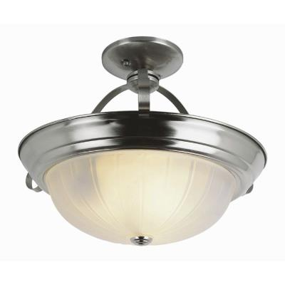 Trans Globe Lighting PL-13215 BN Three Light Semi-Flush Mount