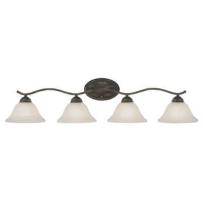 Trans Globe Lighting PL-2828 Pine - Four Light Arch Bath Bar