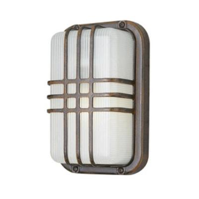 Trans Globe Lighting PL-41104 WH One Light Outdoor High Rectangle Bulkhead