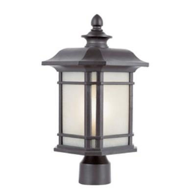 Trans Globe Lighting PL-5823 Corner Window - One Light Outdoor Post Top Lantern