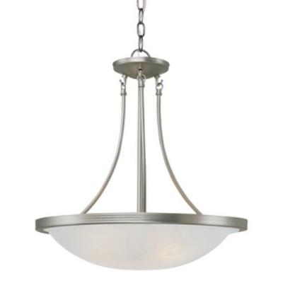 Trans Globe Lighting PL-6212 Moon Glow - Three Light Wide Pendant