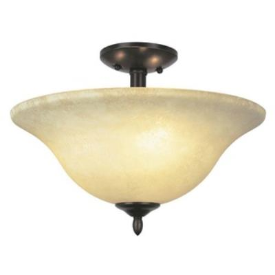 Trans Globe Lighting PL-8162 BN Farmhouse - Two Light Semi-Flush Mount