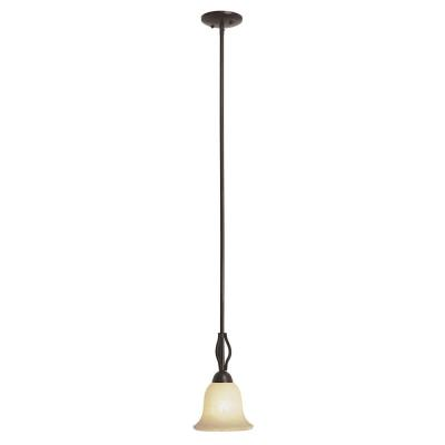Trans Globe Lighting PL-8164 BN Farmhouse - One Light Drop Mini-Pendant