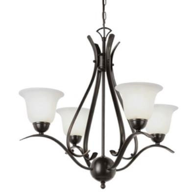 Trans Globe Lighting PL-9280 Ribbon Branched - Four Light Mini-Chandelier