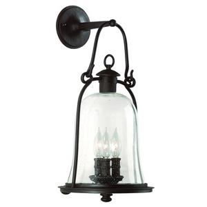 Owings Mill - Three Light Outdoor Large Wall Lantern