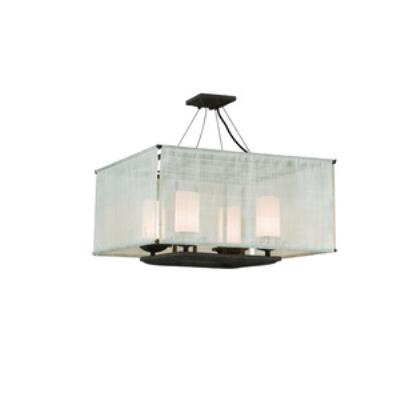Troy Lighting F2208WB Raffia - Four Light Semi-Flush Mount