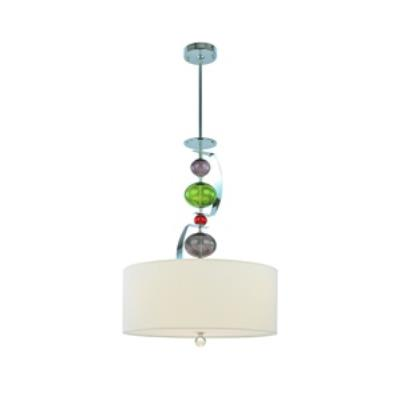 Troy Lighting F2386PC Fizz - Three Light Pendant