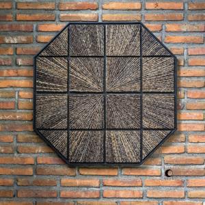 "Bursting Forth - 31.5"" Octagonal Wall Art"