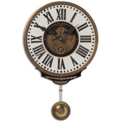 "Uttermost 06021 Vincenzo Bartolini - 17"" Round Wall Clock"