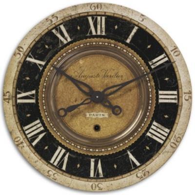 """Uttermost 06028 Auguste Verdier - 27"""" Round Clock"""