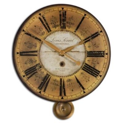 "Uttermost 06034 Louis Leniel - 23.75"" Round Wall Clock"