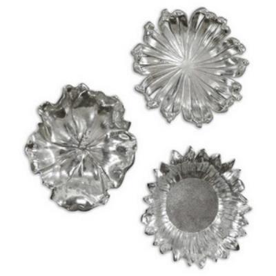 Uttermost 08503 Silver Flowers - Metal Wall Art