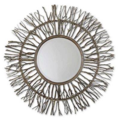"Uttermost 13705 Josiah - 38.25"" Round Wood Mirror"