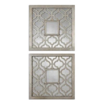 """Uttermost 13808 Sorbolo - 20"""" Square Mirror (Set of 2)"""