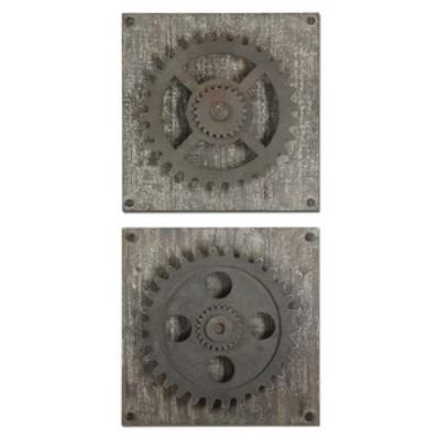 "Uttermost 13828 Rustic - 17"" Gears - (Set of 2)"