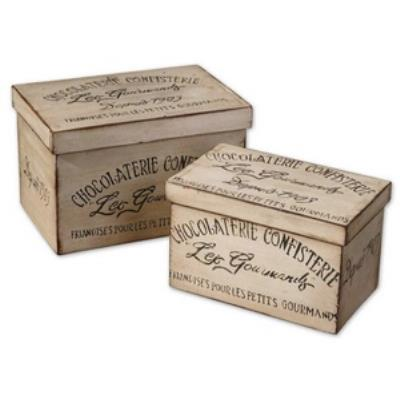 "Uttermost 19300 Chocolaterie - 12"" Decorative Box (Set of 2)"