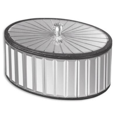 "Uttermost 19308 Alanna - 12"" Mirrored Box"