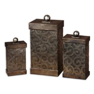 "Uttermost 19418 Nera - 14.5"" Decorative Box (Set of 3)"