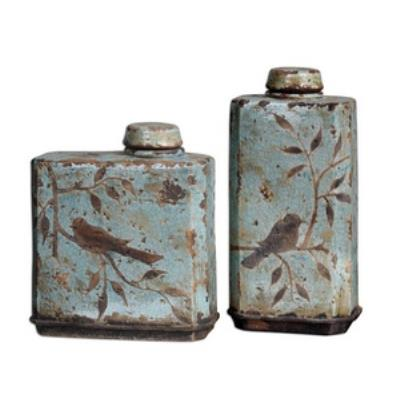 """Uttermost 19547 Freya - 15.5"""" Container (Set of 2)"""