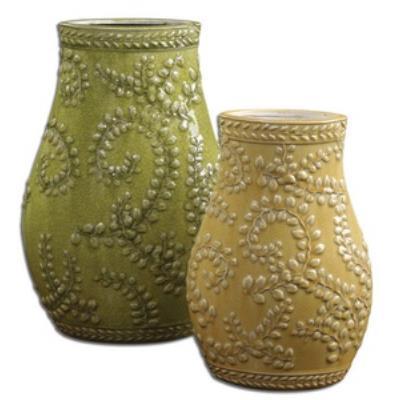 Uttermost 19695 Trailing Leaves - Decorative Vase (Set of 2)