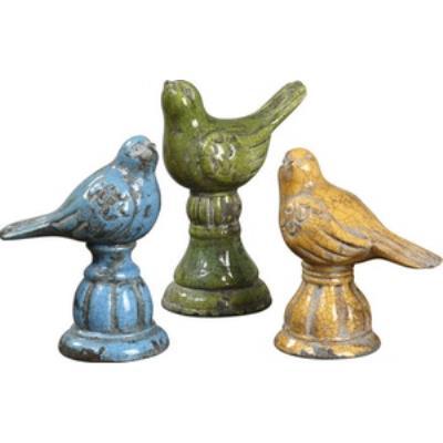 Uttermost 19705 Bird Trio - Decorative Sculpture (Set of 3)