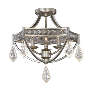 Tamworth - Three Light Modern Semi-Flush Mount