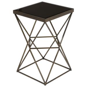 """Uberto - 24"""" Caged Frame Accent Table"""