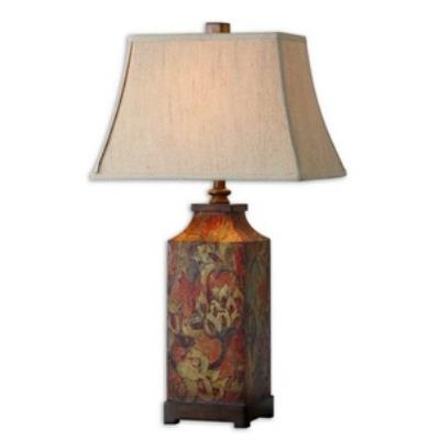Uttermost 27678 Colorful Flowers - One Light Table Lamp