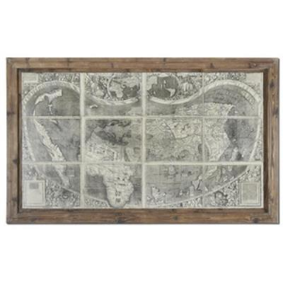 Uttermost 34025 Treasure Map - Decorative Canvas