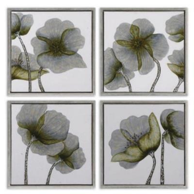 Uttermost 34216 Mini Floral Glow I II III IV - Decorative Artwork (Set of 4)