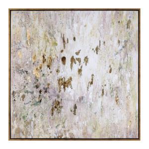 """Golden Raindrops - 62"""" Modern Abstract Wall Art"""