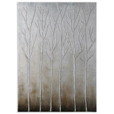 "Uttermost 35105 Sterling Trees - 50"" Abstract Wall Art"