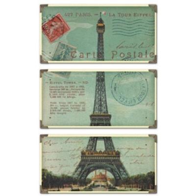 Uttermost 40917 Eiffel Tower Carte Postale - Decorative Wall Art