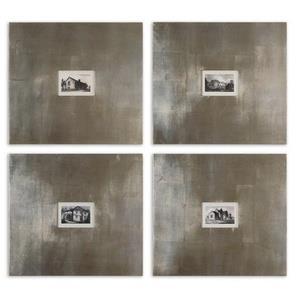 "Historical Buildings - 21.125"" Vintage Wall Art (Set of 4)"