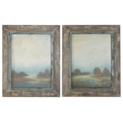 "Uttermost 51076 Morning Vistas - 31"" Decorative Wall Art - (Set of 2)"