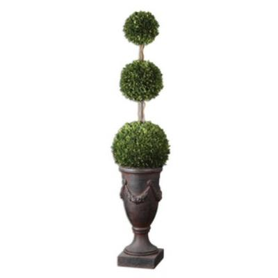 Uttermost 60093 Preserved Boxwood Triple Topiary - Planter