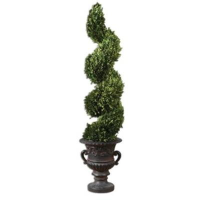 Uttermost 60094 Preserved Boxwood Triple Topiary - Planter