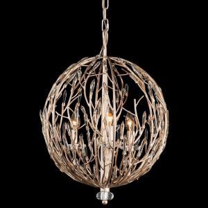 Bask - Three Light Orb Pendant