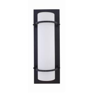 Daniel Six-Inch Energy Star One-Light Outdoor Light, Black with Dove White Glass