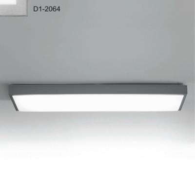 Zaneen Lighting D1-2064 Flat-R - Two Light Flush Mount
