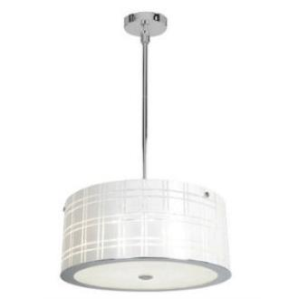 Access Lighting 50976-CH/WH Kalista - Six Light Cylinder Pendant