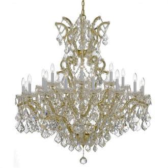 Crystorama Lighting 4424T Maria Theresa - Twenty-Five Light Chandelier
