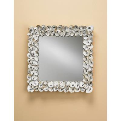 Currey and Company 1348 Oyster Shell Square Mirror