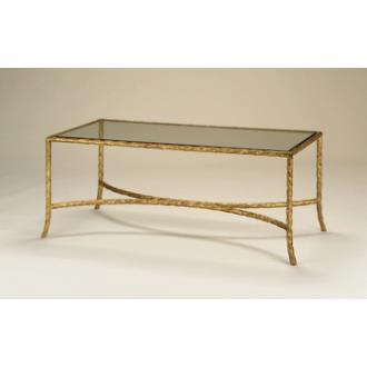 Currey and Company 4057 Gilt Twist Rectangular Table