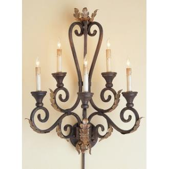 Currey and Company 5349 5 Light Orleans Wall Sconce - Large
