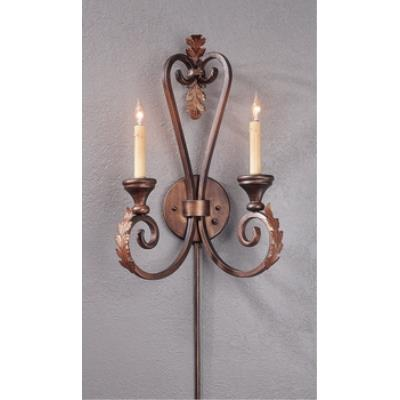 Currey and Company 5350 2 Light Orleans Wall Sconce - Small