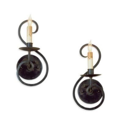 Currey and Company 5528 1 Light Wall Sconce Pair - (L&R)