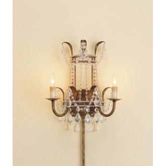 Currey and Company 5543 2 Light Laureate Wall Sconce