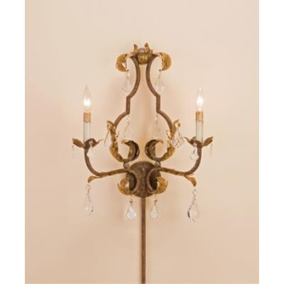 Currey and Company 5828 2 Light Tuscan Wall Sconce